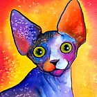 Sphynx Cat painting #3 Svetlana Novikova by Svetlana  Novikova
