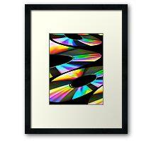 Rainbow Fractal Framed Print
