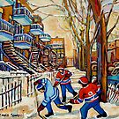 DEBULLION STREET HOCKEY GAME by Carole  Spandau