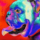 Pop Art Bulldog painting Svetlana Novikova by Svetlana  Novikova