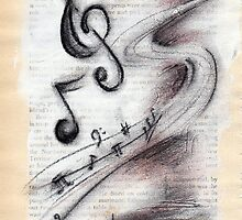 snatches of music bursting forth by CherieStrongArt