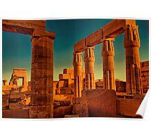 Egypt. Luxor. Karnak Temple. Ruins. Poster