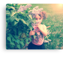 girls are made of lilacs and butterfly kisses Canvas Print
