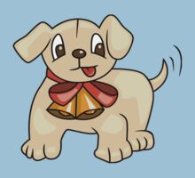 Cute Puppy with Ribbon by Sharon Stevens