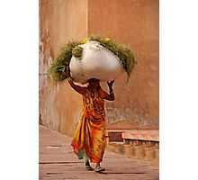 Heavy Load, Agra Fort Photographic Print