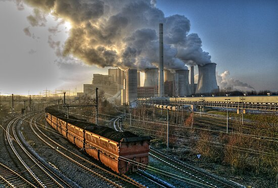 Coal Fired Power Station, Germany. by David A. L. Davies