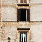 Windows in Rome by Kent Nickell