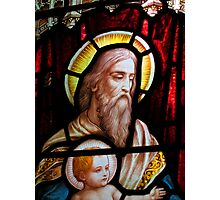 Stained glass window, St Mary Magdalene church, Adlestrop, UK Photographic Print
