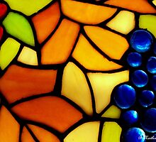 "Stained Glass Grapes - Reproduction of Tiffany ""Grape"" Pattern by Betty Northcutt"