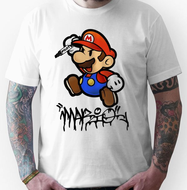 Super Mario does Graffiti Unisex