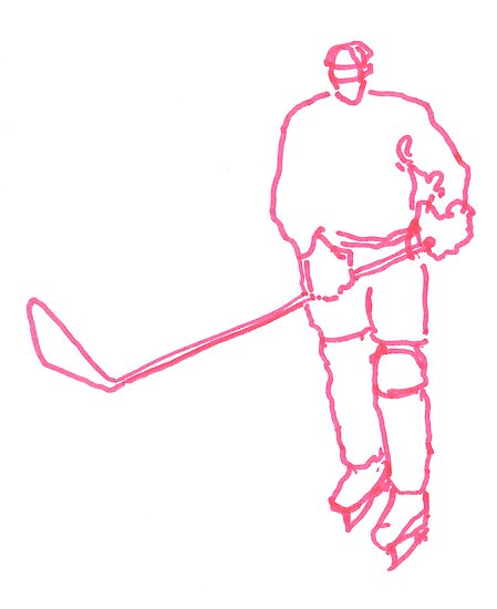 Hockey Player 5 by Richard Butler
