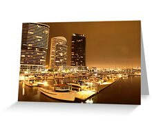 Lonely city in the darkest hour | Docklands, Melbourne Greeting Card