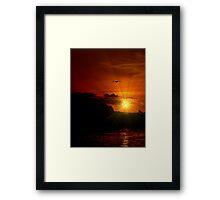 FREEDOM SHINES ON~ Framed Print