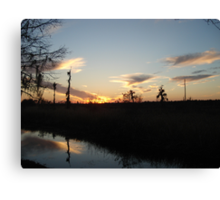 Sunset over Econfina Creek 2/11/2011 Canvas Print