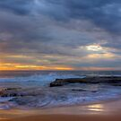 Stormy Sunrise at Turimetta beach by Doug Cliff