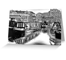 Skipton Canal Basin Greeting Card