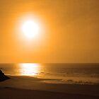 ballybunion golden beach sunset by morrbyte