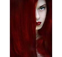 While her lips are still red Photographic Print