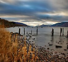 Loch Ness from Dores by John Ellis