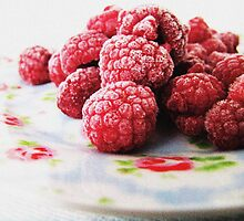 Raspberries - Still Life by Monique Barber