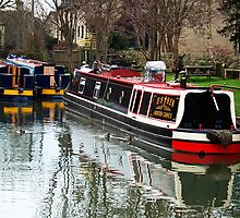 Narrow boats on the Kennet and Avon canal, Bradford on Avon, UK by buttonpresser