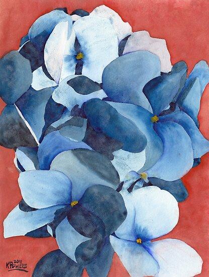 Stylized Hydrangea by Ken Powers