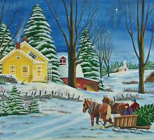 Christmas Even In The Country by Charlotte  Blanchard