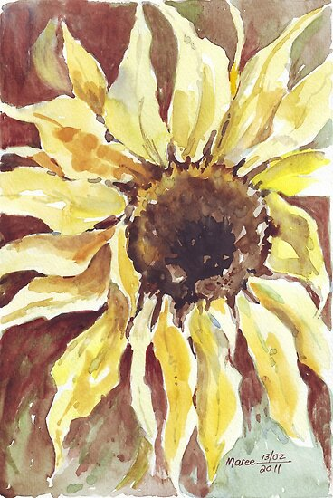 As the Sunflower turns her head... by Maree  Clarkson