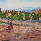 Deer In Fall by Charlotte  Blanchard