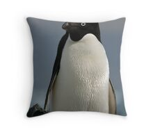 Adelie penguin Throw Pillow