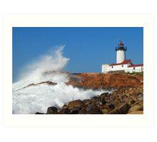 Wave Breaks on Eastern Point - Gloucester, Massachusetts Art Print