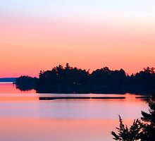 St. Lawrence Sunset, Canadian Middle Channel by macbones