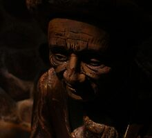 Hungarian Wooden Carved Man by dmwarnman