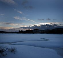 Frozen Resevoir After Blizzard - Ringwood NJ by Dylan Thompson