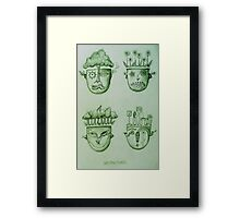 Garden Heads Framed Print