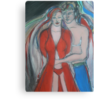 Valentines Sweethearts - Red Love Canvas Print