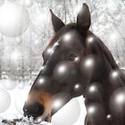 Horse in the snow by JF Gasser