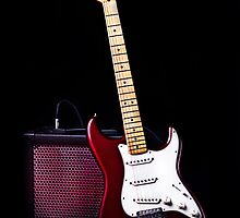 Fender Stratocaster - Red Electric Guitar by Johannes Erixon