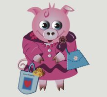 Miss Piggy loves shopping by walstraasart