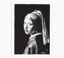 Vermeer - study in pencil T-shirt by Jan Szymczuk