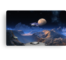 Rendezvous at Blue Hills - Space Pirates Canvas Print