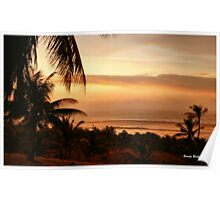 """""""SALMON PINK SUNSET"""" - Mozambique Poster"""