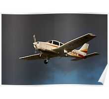 A PA 28 in flight Poster