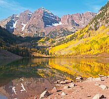 The Maroon Bells near Aspen by Alex Cassels