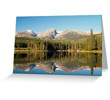 Mirror reflections on Sprague Lake Greeting Card