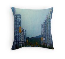 From Vancouver to the mountains Throw Pillow