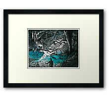 Cave Couple (Just Married) Framed Print