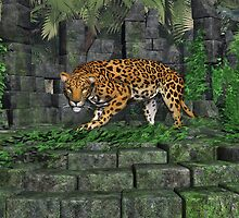 Jungle Ruins Jaguar by Walter Colvin