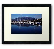 Early morning in Hobart. Tasmania, Australia. Framed Print