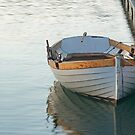 Wooden Rowboat at Rest (Dana Point, California) by Brendon Perkins